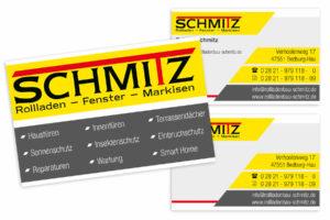 Visitenkarte-Rolladenbau-schmitz-beidseitig-UV-Lack