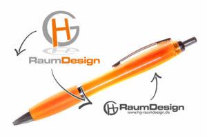 werbekugelschreiber-einfarbig-orange-entwurf-hg-raumdesign-goch
